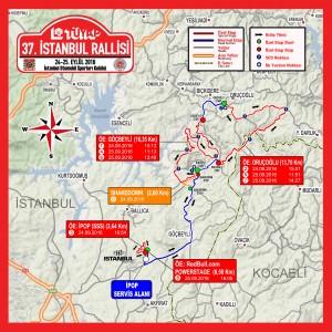 2016 istanbul Rallisi Genel Haritası
