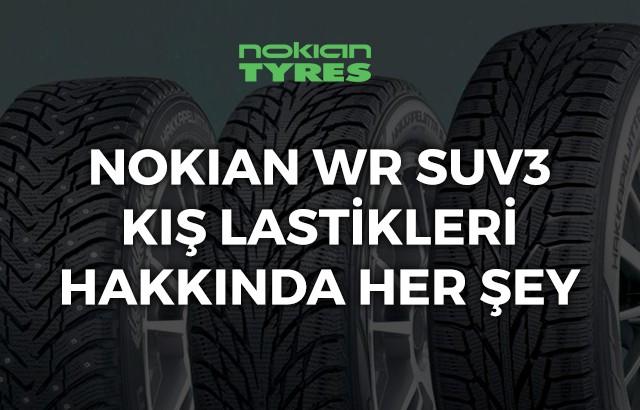 Nokian WR SUV3 kış lastiği ebatları, yorumları ve fiyatı