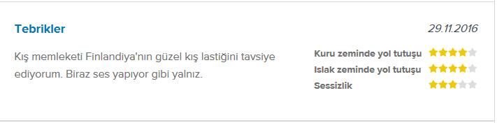 Nokian WR A4 kış lastiği yorumları