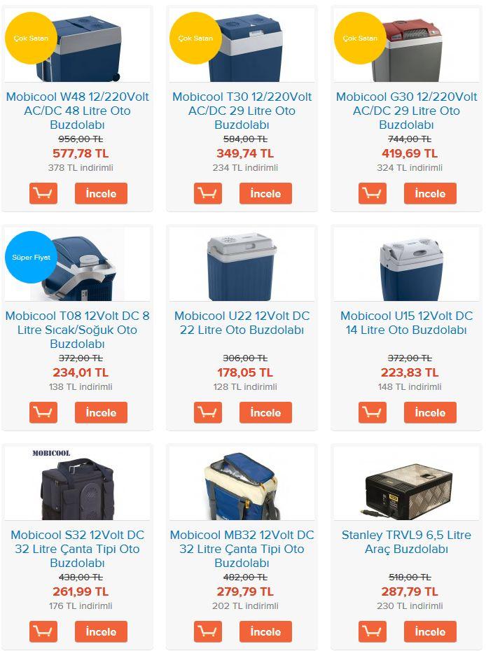 KolayOto'da satışta olan oto buzdolaplarının güncel fiyatları için linke tıklayabilirsiniz: http://kolayoto.com/aksesuarlar/oto-aksesuarlar/arac-buzdolaplari.html